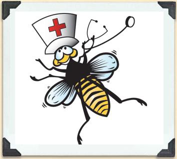 Les soins et le service les abeilles une sucr e de bonne id e - Dessin infirmiere humoristique ...